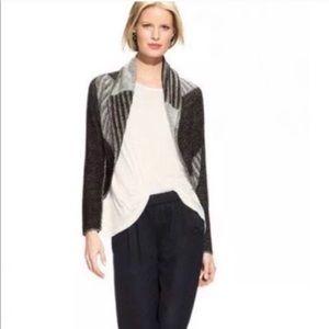 CAbi 483 Circle Sweater Cardigan Wool Black Small